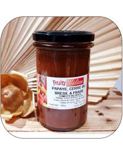 Compote Papaye, Cerise du Brésil et Fraise - 310g