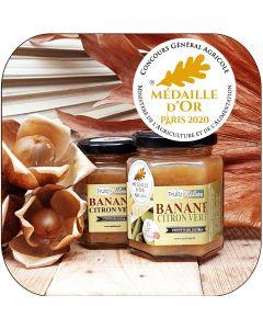 Confiture Extra Banane & Citron Vert - Médaille d'Or CGA2020